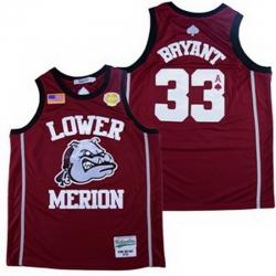 Lower Merion Kobe Bryant 24 High ScHool Jersey 33 8