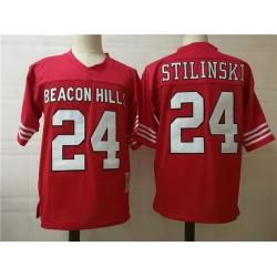 NCAA Film Beacon Hill Stilinski 24 Red Stitched Jersey