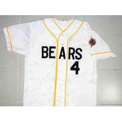 NCAA Film Bears 4 White Stitched Jersey
