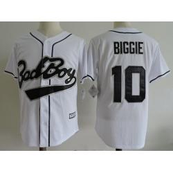 NCAA Film Jersey Badboy Biggie 10 White Stitched Jersey
