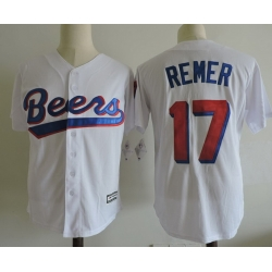 NCAA Film Jersey Beers Remer 17 White Stitched Jersey