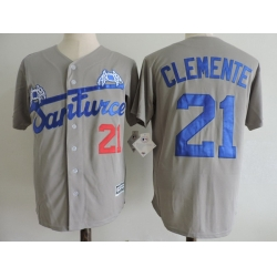 NCAA Film Jersey Clement 21 Grey Stitched Jersey