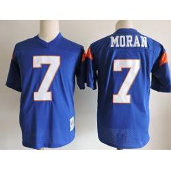 NCAA Film Jersey Moran 7 Blue Stitched Jersey